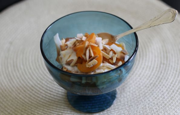 Fresh Apricot + Yogurt Parfait