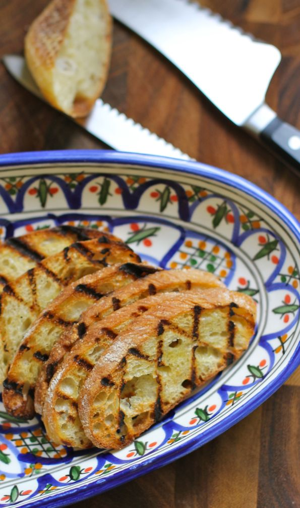 grilled bread with garlic