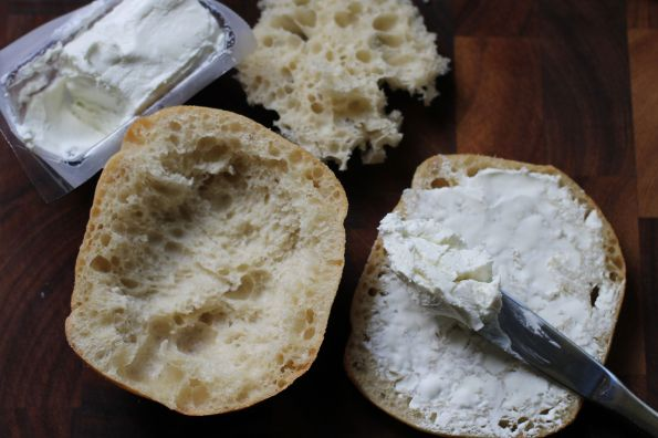 panini bread with fluff removed