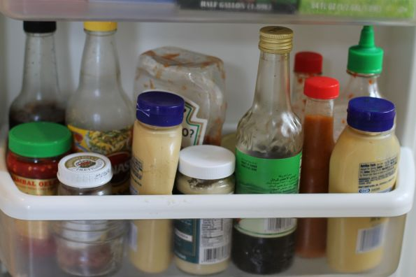 Condiments on the Door: Near the Bottom