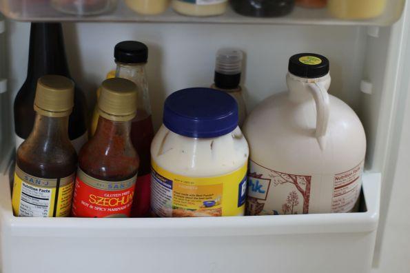 Condiments on the Door: Bottom Shelf