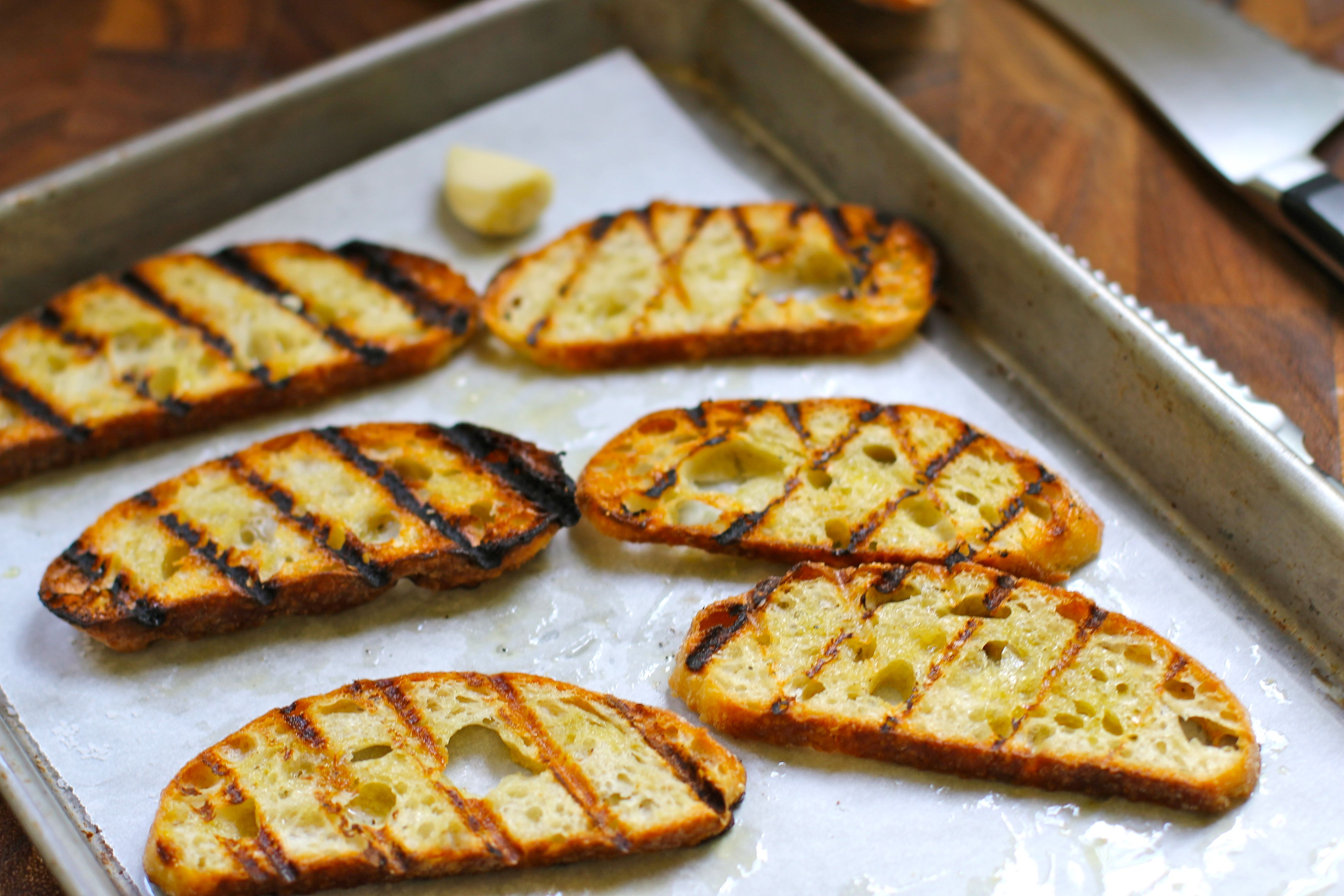 grilled bread rubbed with garlic | the yellow bungalow