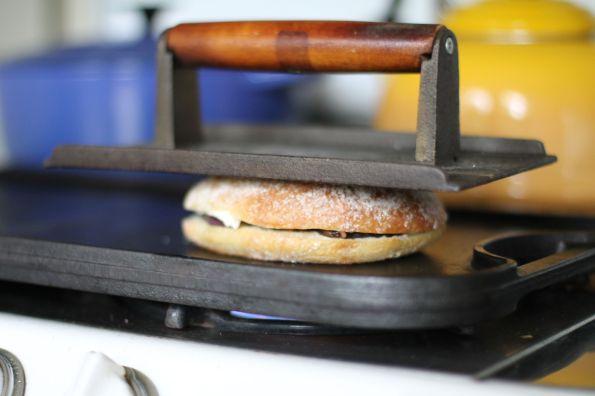 pressed veggie panini