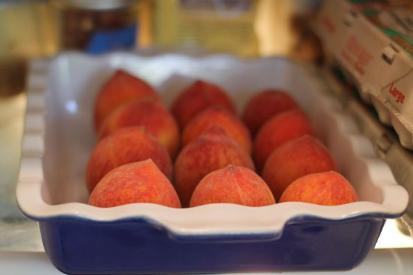 how to store peaches...