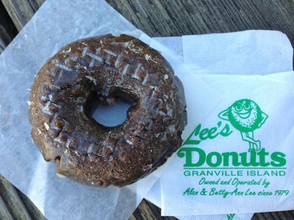 I think the photo says it all: Lee's Donut on Granville Island.  Vancouver, BC.