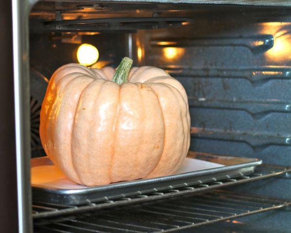 pumpkin in oven