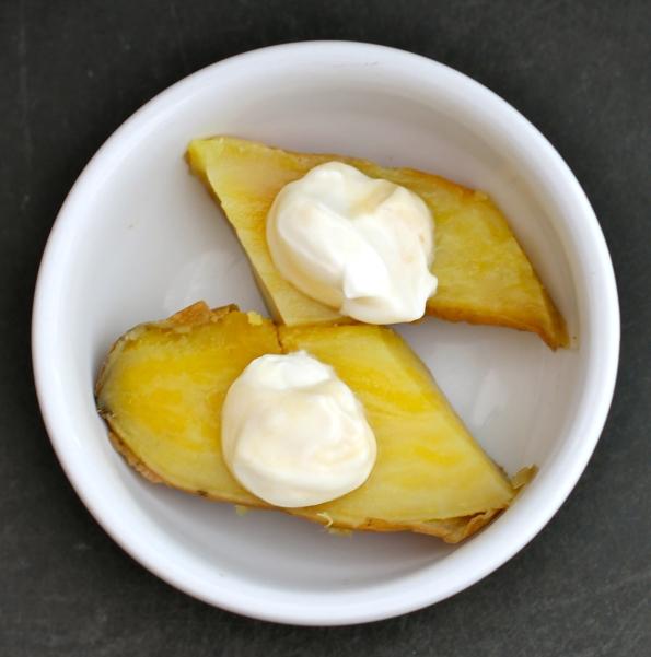 sweet potato with yogurt