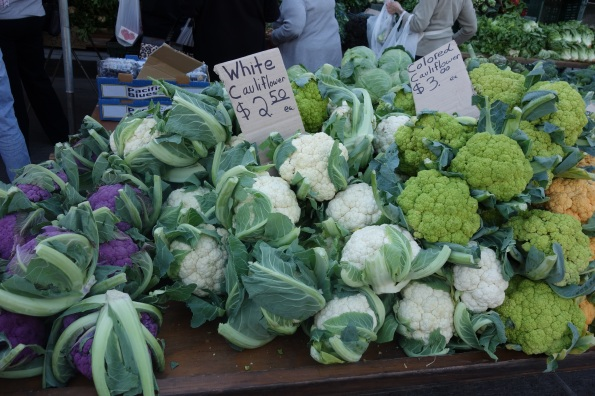 Different varieties of cauliflower grown by Underwood Family Farm.