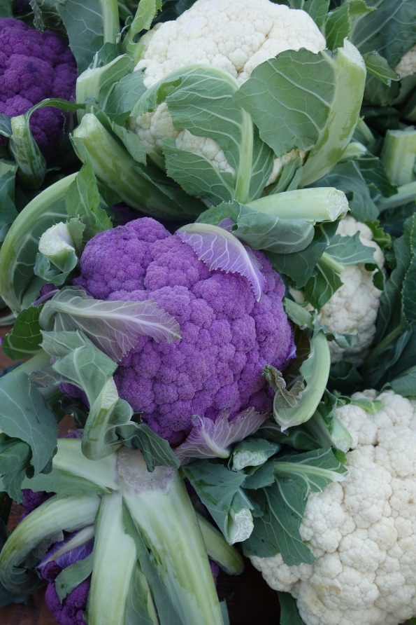 "This purple variety of cauliflower is called ""graffiti."""