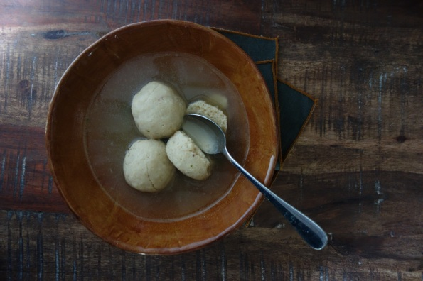 Matzo ball soup from Jan's Coffee Shop in Los Angeles.